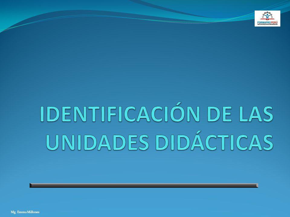 IDENTIFICACIÓN DE LAS UNIDADES DIDÁCTICAS