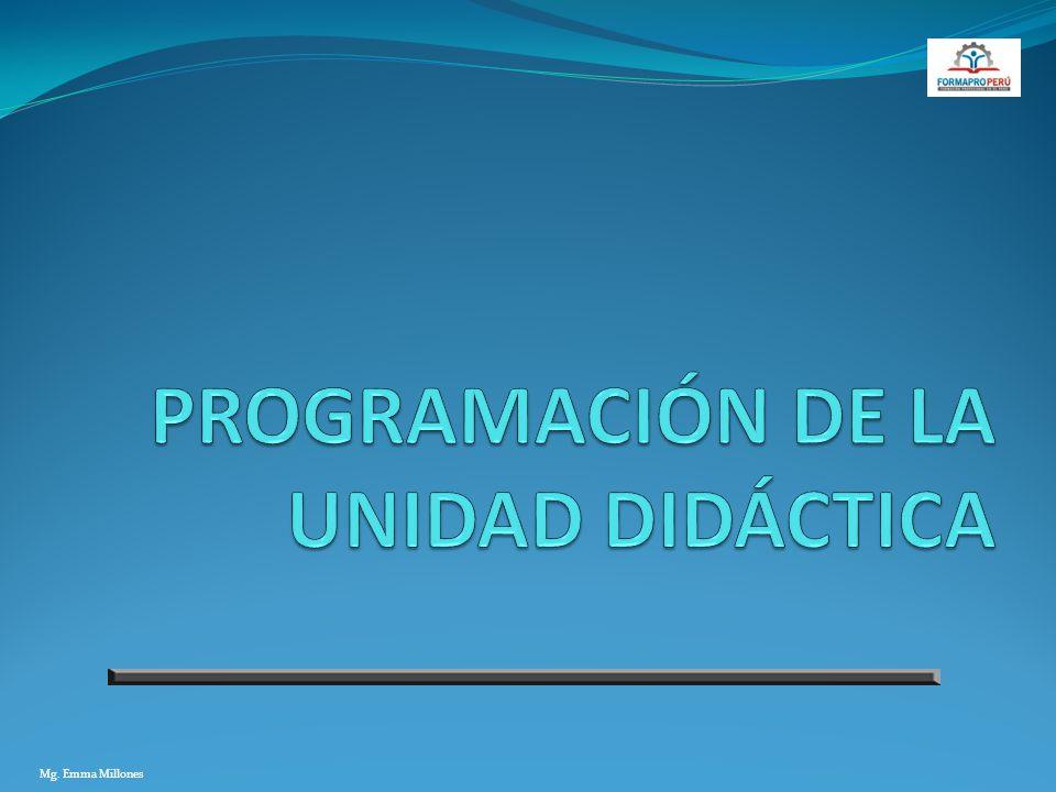 PROGRAMACIÓN DE LA UNIDAD DIDÁCTICA
