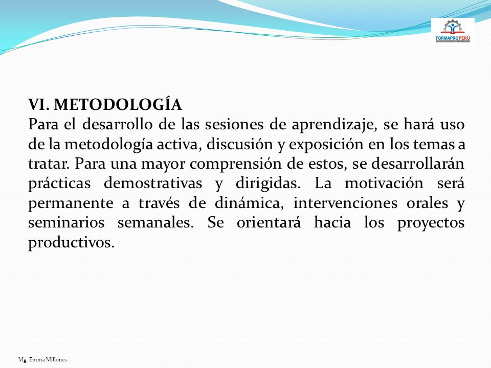 VI. METODOLOGÍA