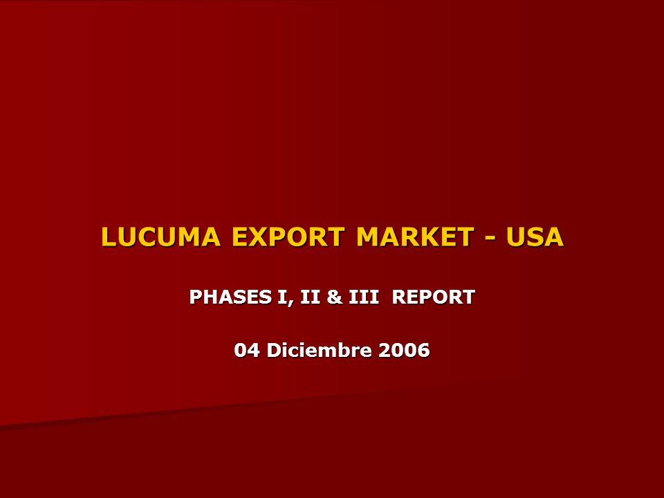 LUCUMA EXPORT MARKET - USA