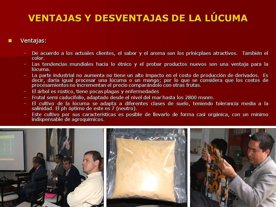 VENTAJAS Y DESVENTAJAS DE LA LÚCUMA