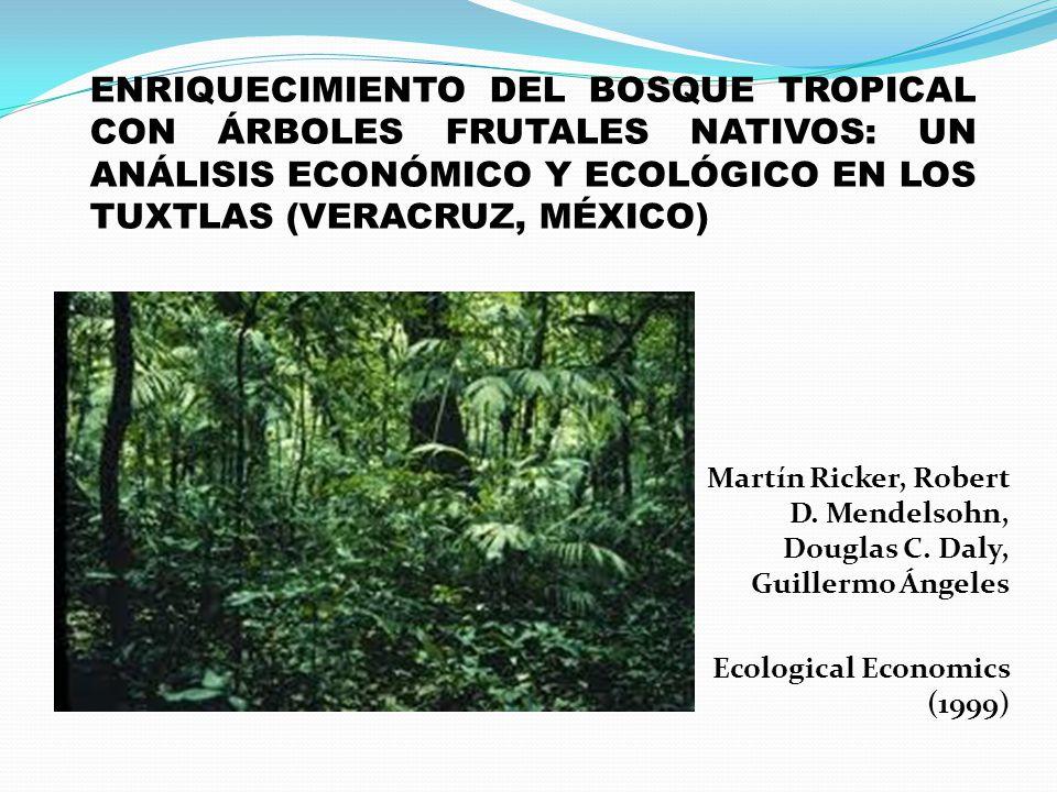 ENRIQUECIMIENTO DEL BOSQUE TROPICAL CON ÁRBOLES FRUTALES NATIVOS: UN ANÁLISIS ECONÓMICO Y ECOLÓGICO EN LOS TUXTLAS (VERACRUZ, MÉXICO)