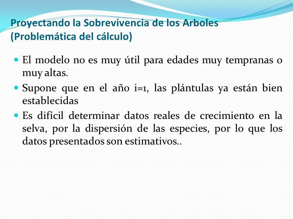 Proyectando la Sobrevivencia de los Arboles (Problemática del cálculo)