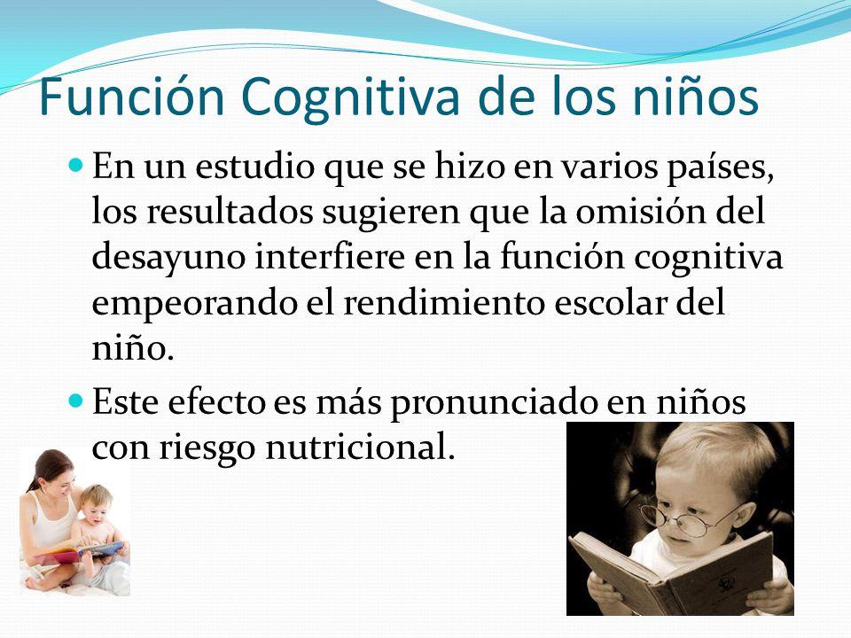 Función Cognitiva de los niños