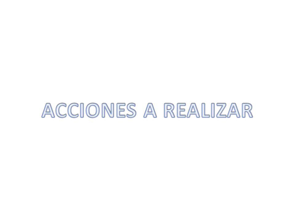 ACCIONES A REALIZAR