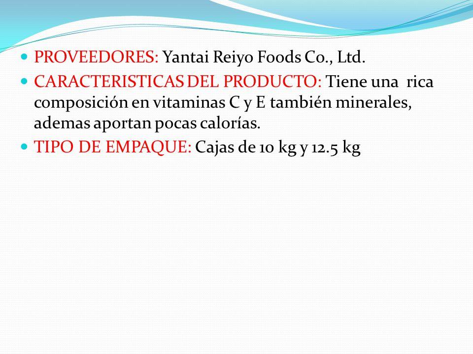 PROVEEDORES: Yantai Reiyo Foods Co., Ltd.
