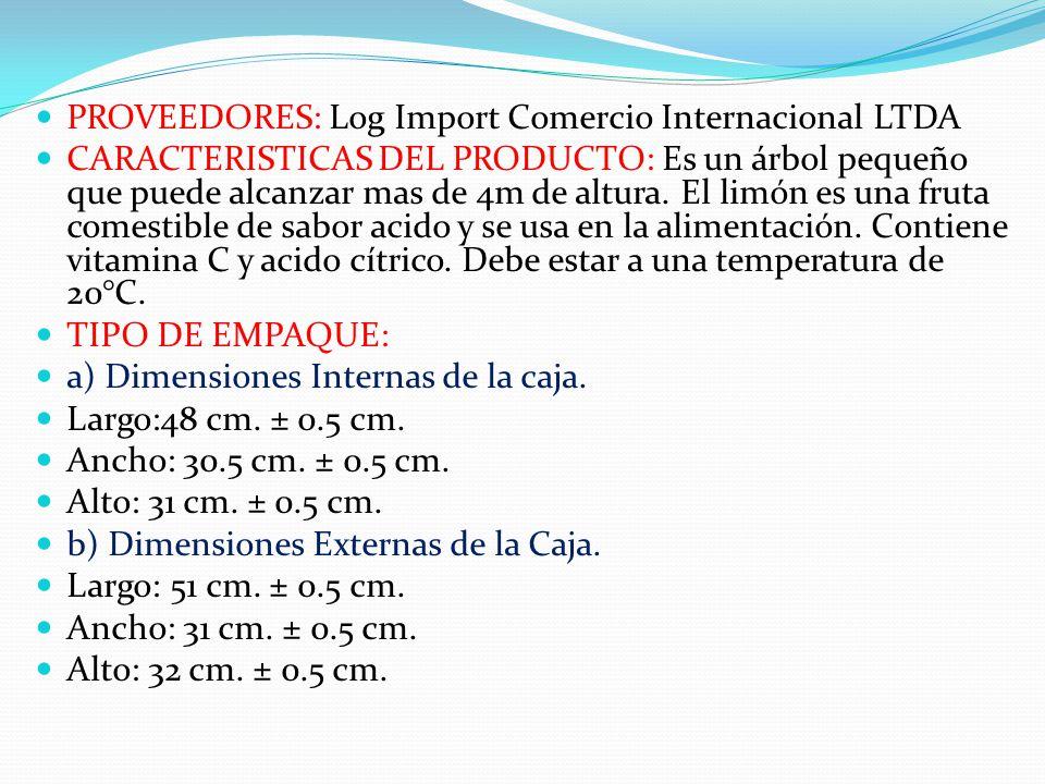 PROVEEDORES: Log Import Comercio Internacional LTDA