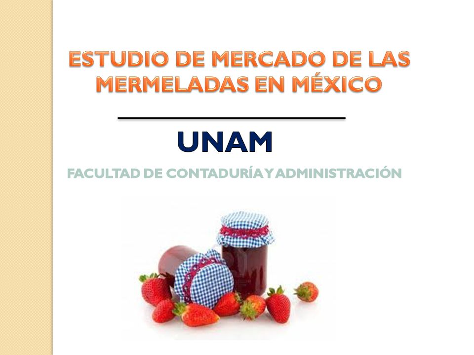 UNAM ESTUDIO DE MERCADO DE LAS MERMELADAS EN MÉXICO