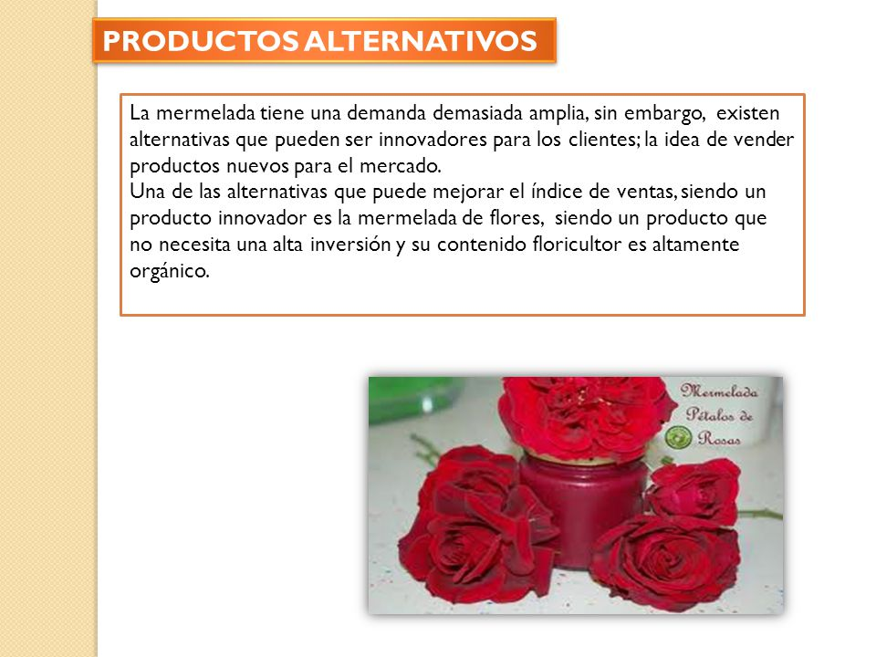 PRODUCTOS ALTERNATIVOS
