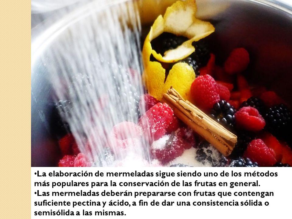 La elaboración de mermeladas sigue siendo uno de los métodos más populares para la conservación de las frutas en general.