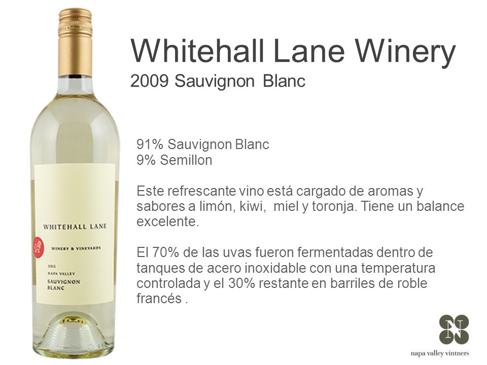Whitehall Lane Winery 2009 Sauvignon Blanc