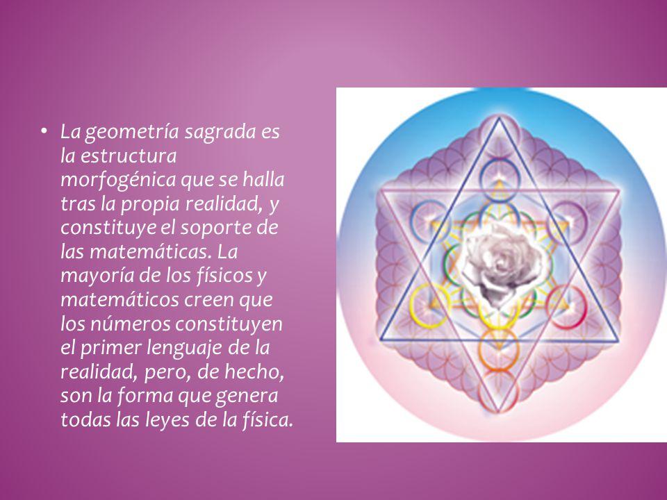 La geometría sagrada es la estructura morfogénica que se halla tras la propia realidad, y constituye el soporte de las matemáticas.