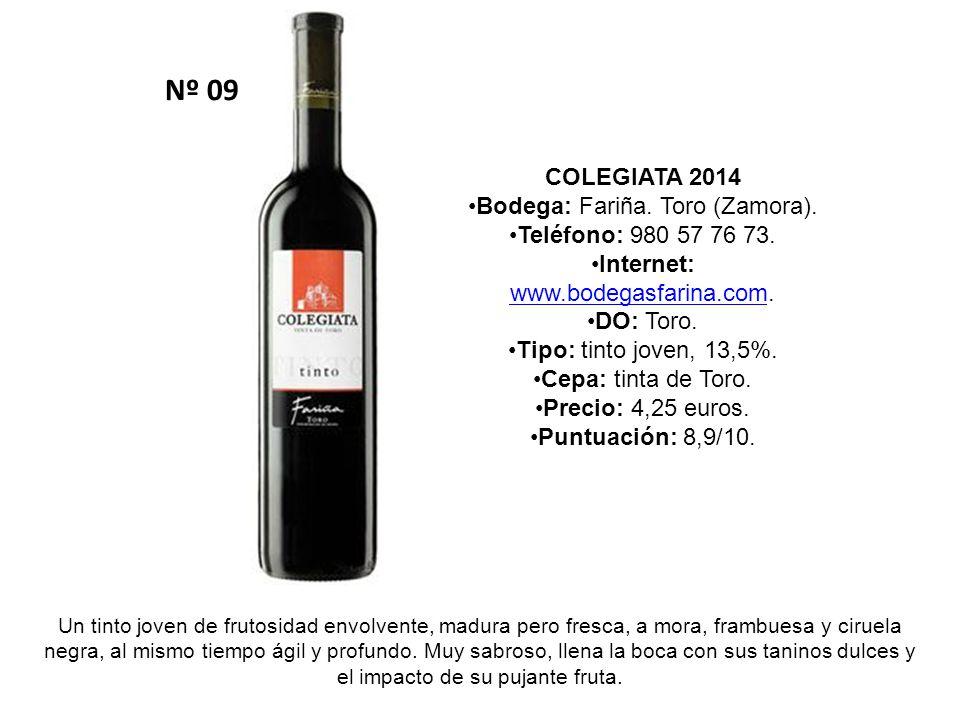 Nº 09 COLEGIATA 2014 Bodega: Fariña. Toro (Zamora).