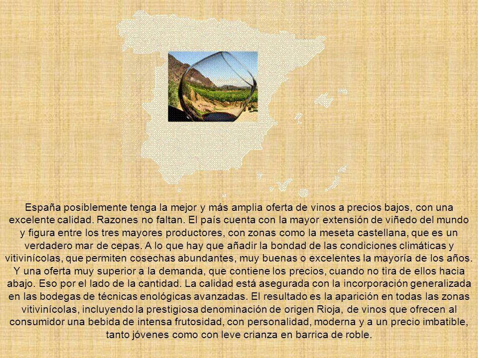 España posiblemente tenga la mejor y más amplia oferta de vinos a precios bajos, con una excelente calidad.