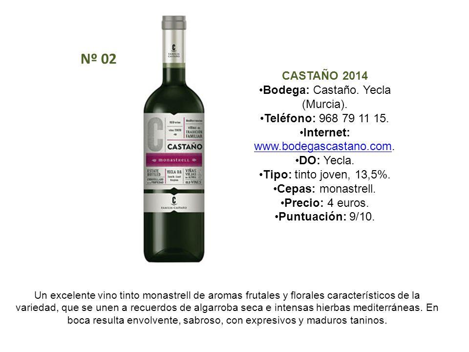 Nº 02 CASTAÑO 2014 Bodega: Castaño. Yecla (Murcia).