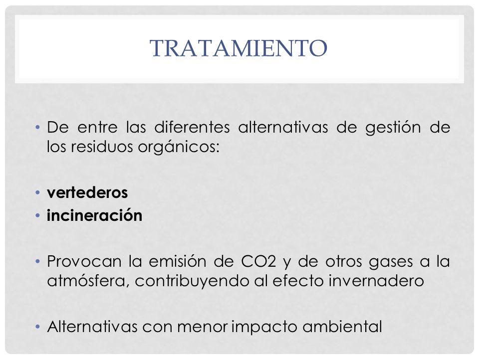 TRATAMIENTO De entre las diferentes alternativas de gestión de los residuos orgánicos: vertederos.