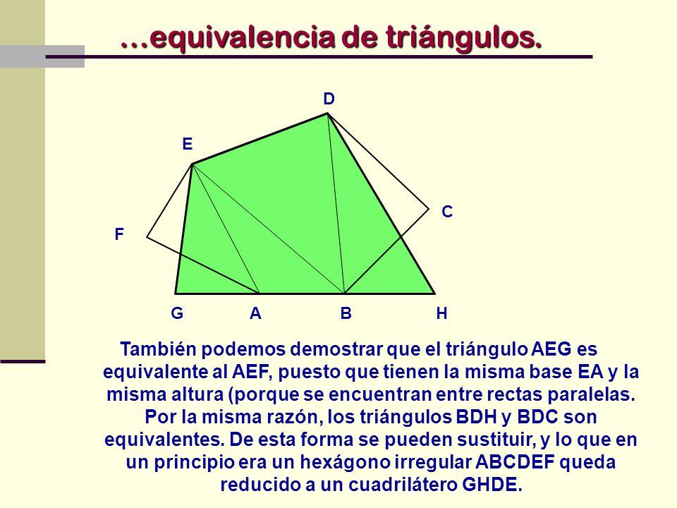 …equivalencia de triángulos.