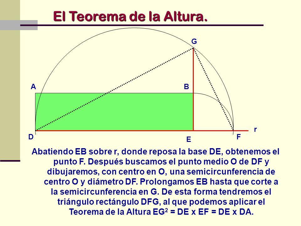El Teorema de la Altura. G. B. A. E. D. r. F.