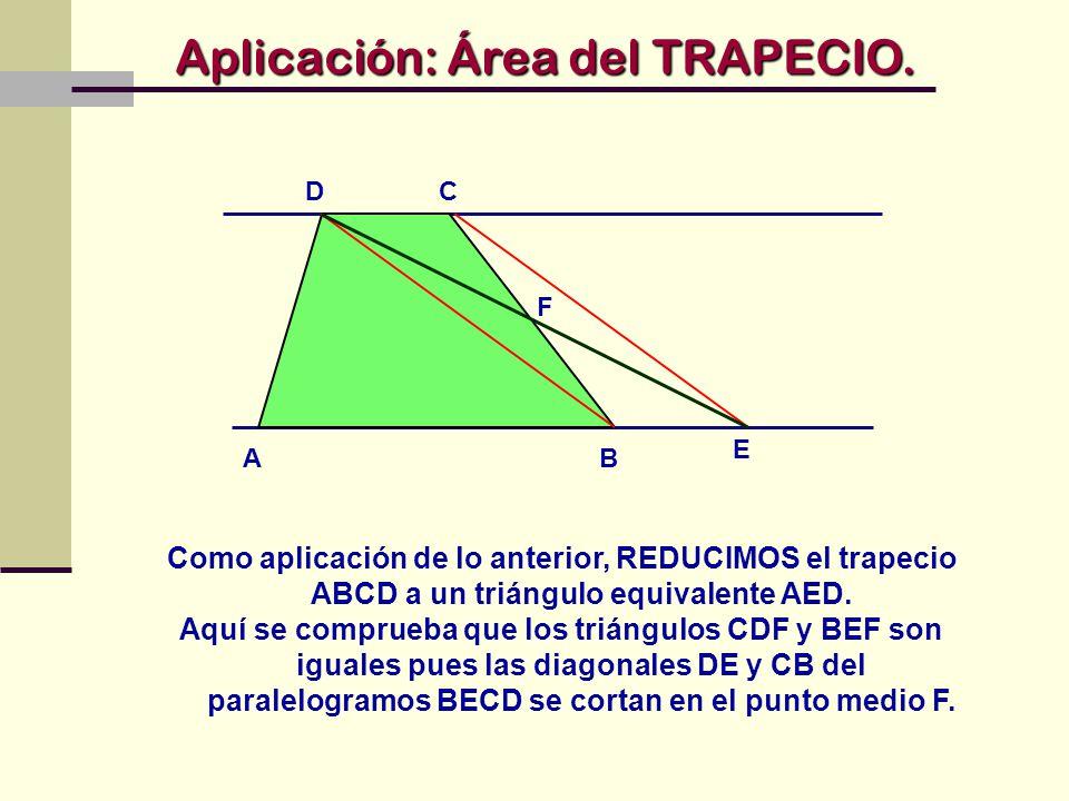 Aplicación: Área del TRAPECIO.