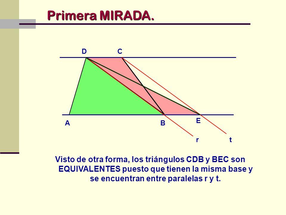 Primera MIRADA. A. B. D. C. E. r. t.