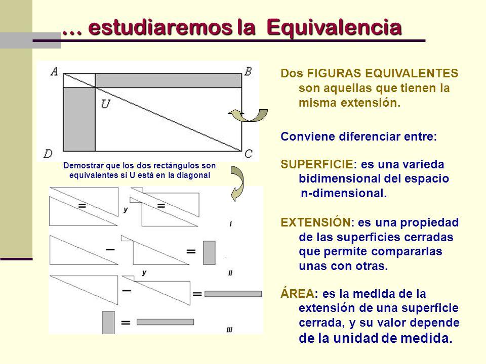 … estudiaremos la Equivalencia