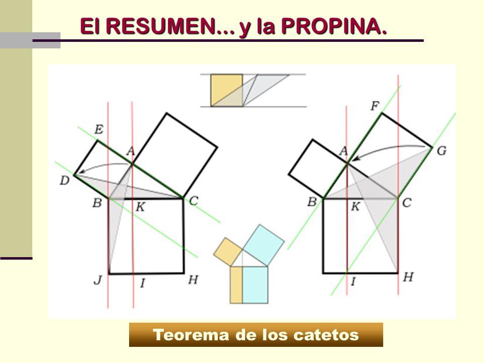 El RESUMEN... y la PROPINA. Teorema de los catetos
