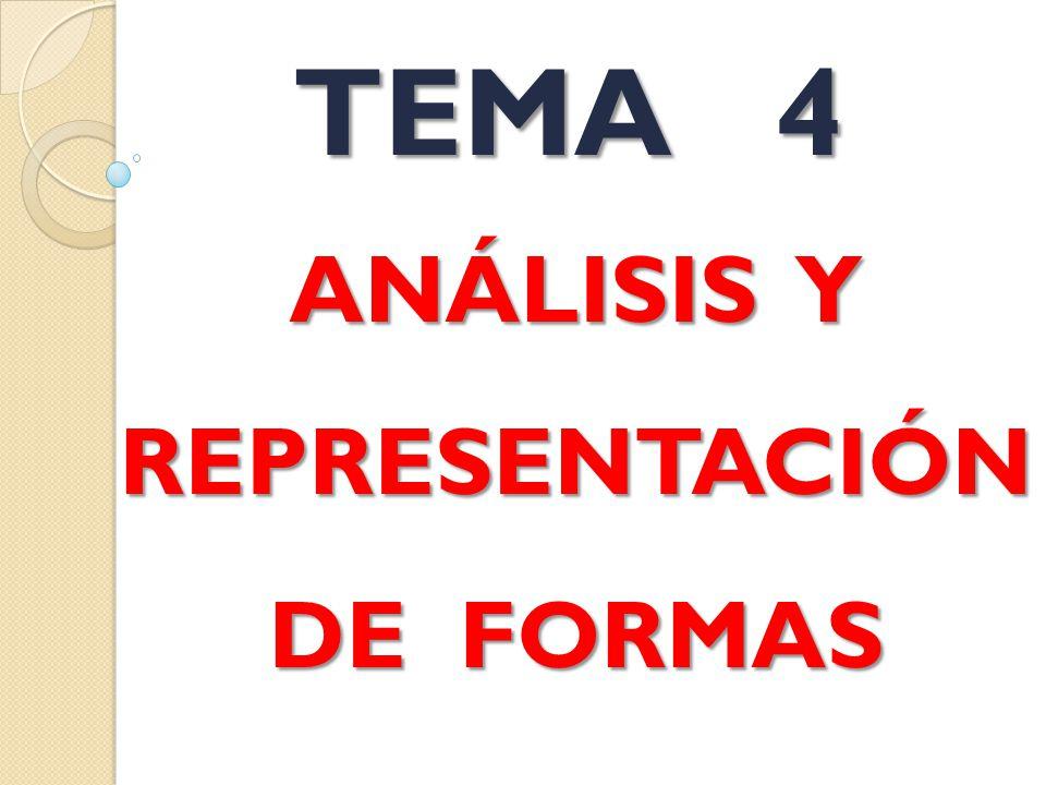 ANÁLISIS Y REPRESENTACIÓN DE FORMAS