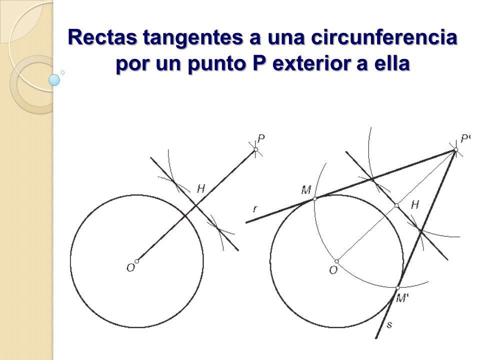Rectas tangentes a una circunferencia por un punto P exterior a ella