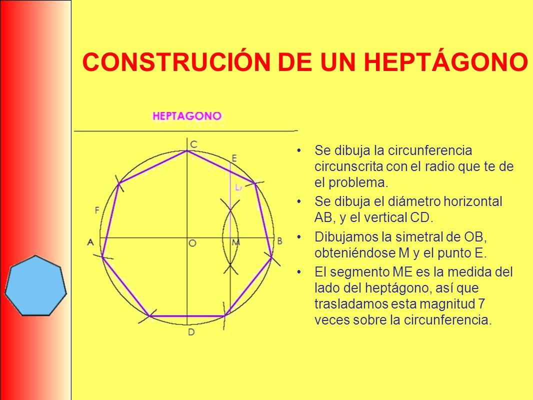 CONSTRUCIÓN DE UN HEPTÁGONO