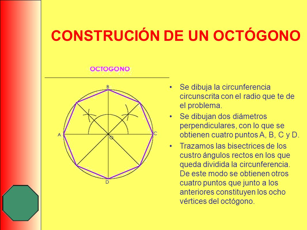 CONSTRUCIÓN DE UN OCTÓGONO