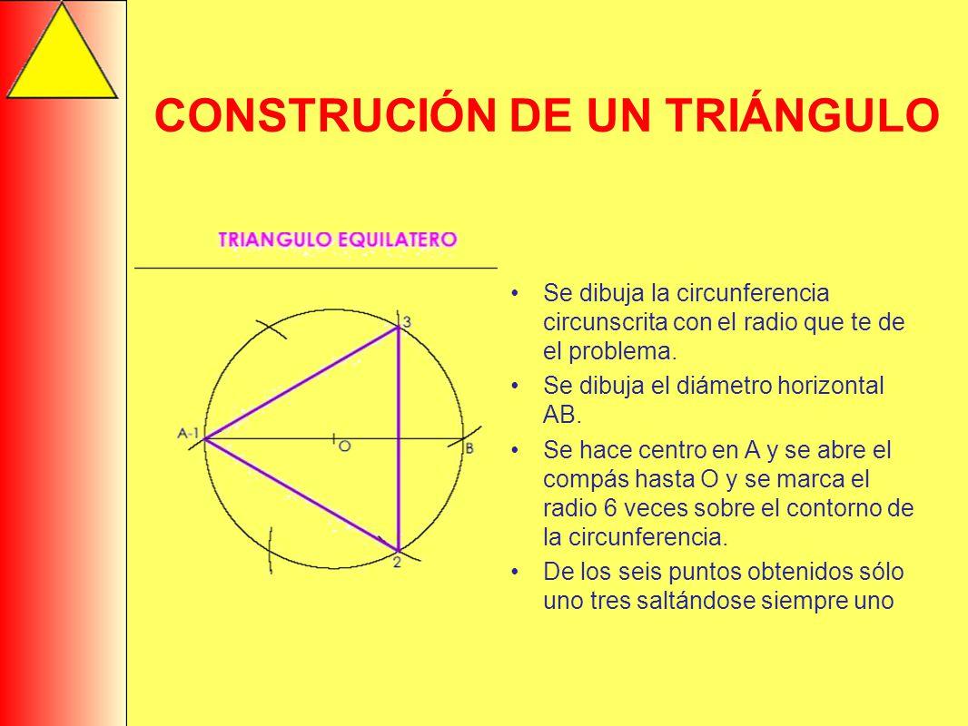 CONSTRUCIÓN DE UN TRIÁNGULO