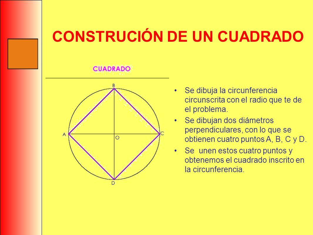 CONSTRUCIÓN DE UN CUADRADO