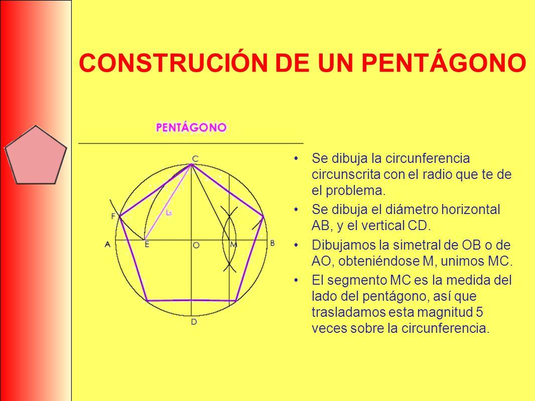 CONSTRUCIÓN DE UN PENTÁGONO