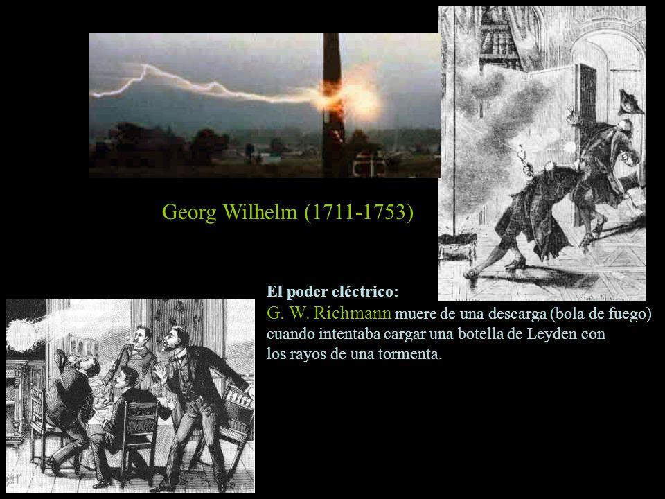 Georg Wilhelm (1711-1753) El poder eléctrico: G. W. Richmann muere de una descarga (bola de fuego)