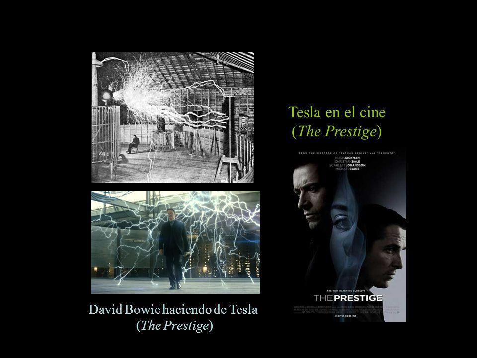 David Bowie haciendo de Tesla