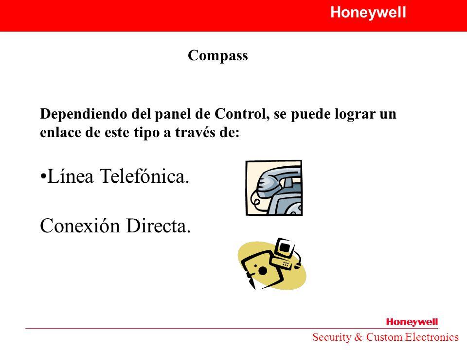 Línea Telefónica. Conexión Directa. Honeywell Compass