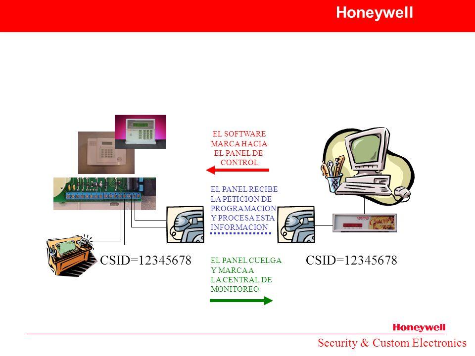 Honeywell CSID=12345678 CSID=12345678 Security & Custom Electronics