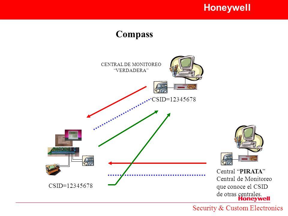 Honeywell Compass Security & Custom Electronics CSID=12345678