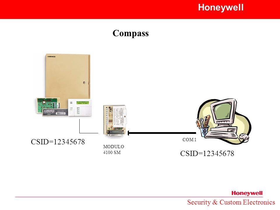 Honeywell Compass CSID=12345678 CSID=12345678