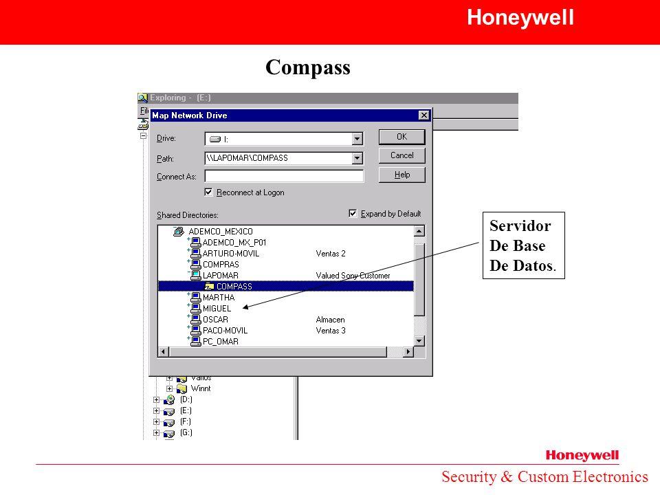 Honeywell Compass Servidor De Base De Datos.