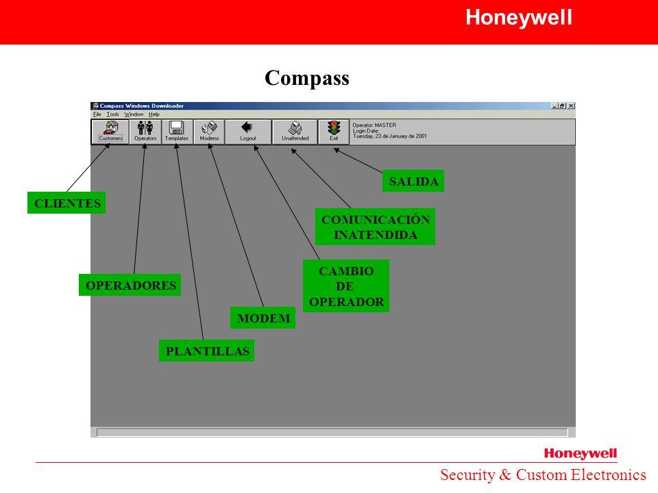Honeywell Compass Security & Custom Electronics SALIDA CLIENTES