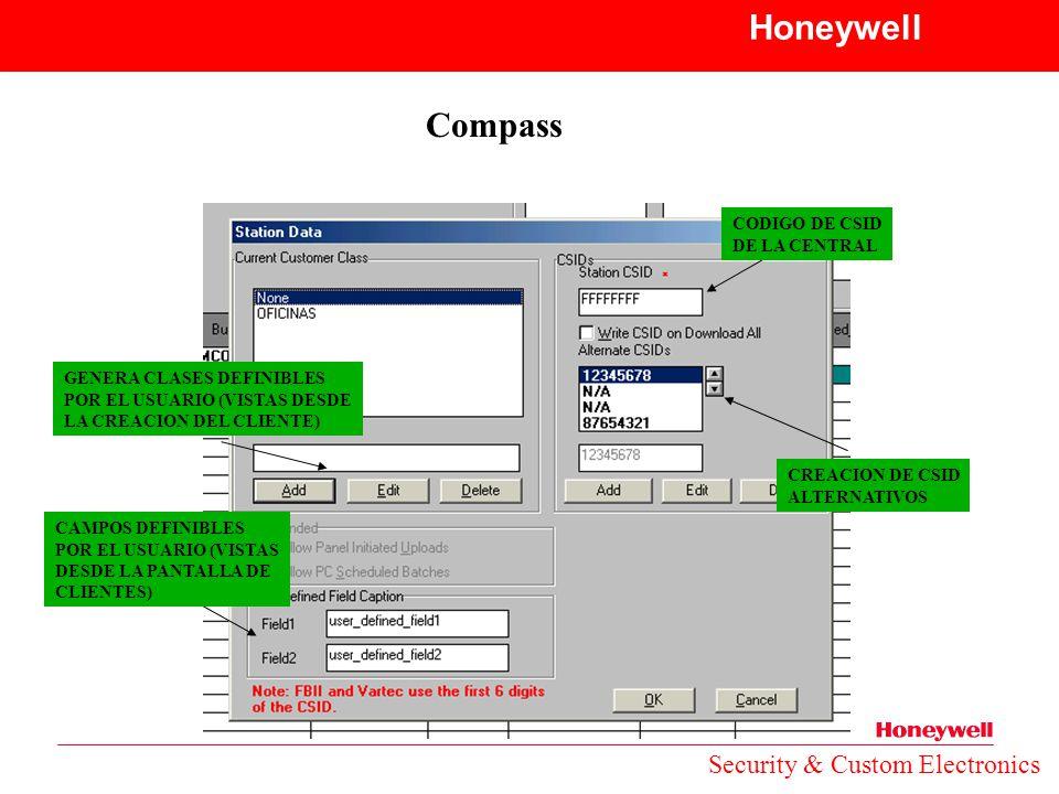 Honeywell Compass Security & Custom Electronics CODIGO DE CSID