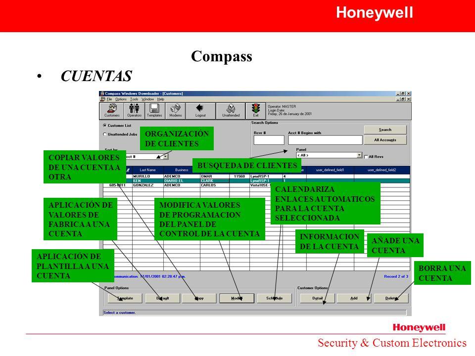 Honeywell Compass CUENTAS Security & Custom Electronics ORGANIZACIÓN