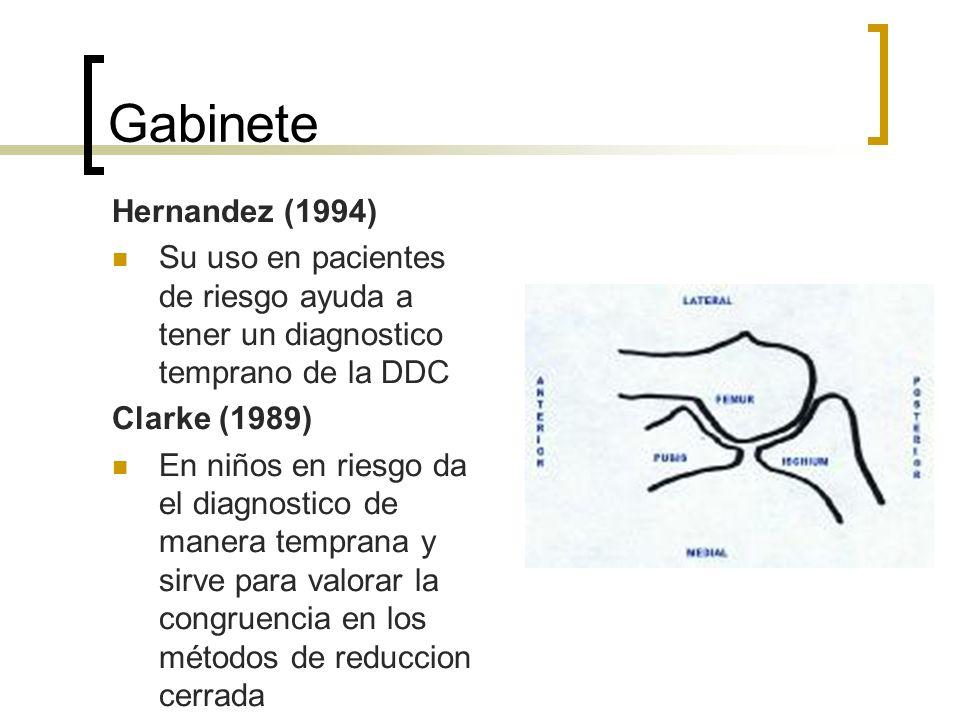 GabineteHernandez (1994) Su uso en pacientes de riesgo ayuda a tener un diagnostico temprano de la DDC.
