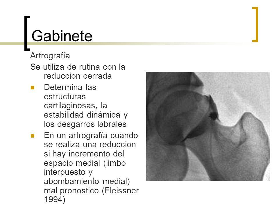 Gabinete Artrografía Se utiliza de rutina con la reduccion cerrada