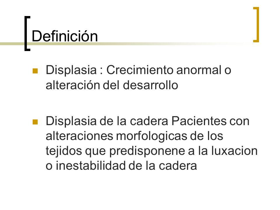 Definición Displasia : Crecimiento anormal o alteración del desarrollo