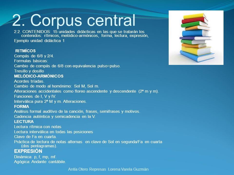 2. Corpus central EXPRESIÓN