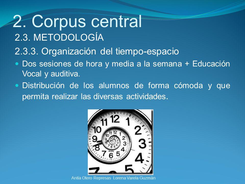 2. Corpus central 2.3. METODOLOGÍA