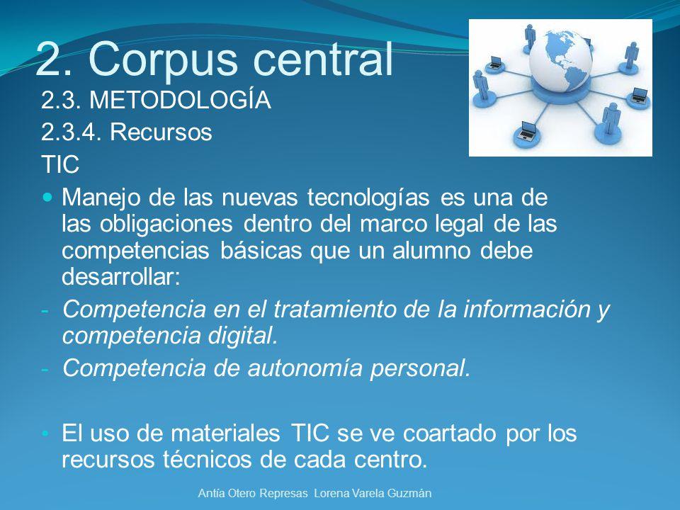 2. Corpus central 2.3. METODOLOGÍA 2.3.4. Recursos TIC