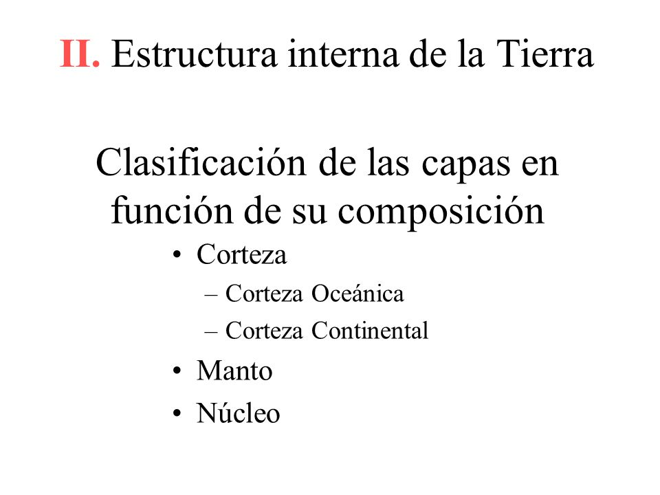 Clasificación de las capas en función de su composición